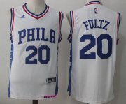 Wholesale Cheap Men's 2017 Draft Philadelphia 76ers #20 Markelle Fultz White Stitched NBA adidas Revolution 30 Swingman Jersey