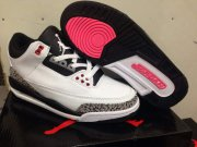 Wholesale Cheap AIR JORDAN 3 RETRO INFRARED 23 Shoes White/Cement Grey-Infrared 23-Black
