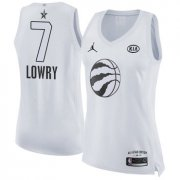Wholesale Cheap Nike Toronto Raptors #7 Kyle Lowry White Women's NBA Jordan Swingman 2018 All-Star Game Jersey