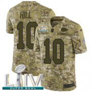 Wholesale Cheap Nike Chiefs #10 Tyreek Hill Camo Super Bowl LIV 2020 Youth Stitched NFL Limited 2018 Salute To Service Jersey