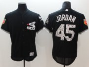 Wholesale Cheap White Sox #45 Michael Jordan Black 2018 Spring Training Authentic Flex Base Stitched MLB Jersey