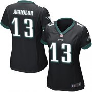 Wholesale Cheap Nike Eagles #13 Nelson Agholor Black Alternate Women's Stitched NFL New Elite Jersey