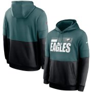 Wholesale Cheap Philadelphia Eagles Nike Sideline Impact Lockup Performance Pullover Hoodie Midnight Green Black