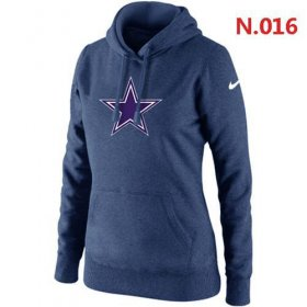 Wholesale Cheap Women\'s Dallas Cowboys Logo Pullover Hoodie Dark Blue