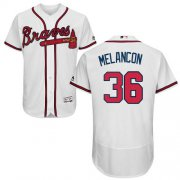 Wholesale Cheap Braves #36 Mark Melancon White Flexbase Authentic Collection Stitched MLB Jersey