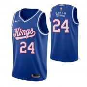 Wholesale Cheap Nike Sacramento Kings #24 Buddy Hield Blue 2019-20 Hardwood Classics Jersey