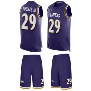 Wholesale Cheap Nike Ravens #29 Earl Thomas III Purple Team Color Men's Stitched NFL Limited Tank Top Suit Jersey
