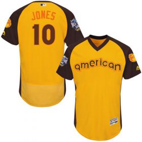 Wholesale Cheap Orioles #10 Adam Jones Gold Flexbase Authentic Collection 2016 All-Star American League Stitched MLB Jersey