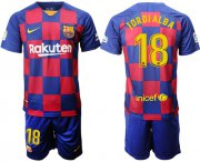 Wholesale Cheap Barcelona #18 Jordi Alba Home Soccer Club Jersey