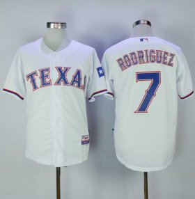 Wholesale Cheap Rangers #7 Ivan Rodriguez White Cool Base Stitched MLB Jersey