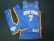 Wholesale Cheap New York Knicks 7 Carmelo Anthony blue Basketball Suit