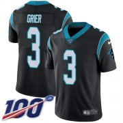Wholesale Cheap Nike Panthers #3 Will Grier Black Team Color Youth Stitched NFL 100th Season Vapor Untouchable Limited Jersey