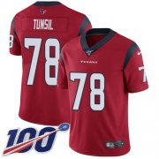 Wholesale Cheap Nike Texans #78 Laremy Tunsil Red Alternate Men's Stitched NFL 100th Season Vapor Untouchable Limited Jersey