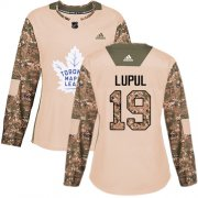 Wholesale Cheap Adidas Maple Leafs #19 Joffrey Lupul Camo Authentic 2017 Veterans Day Women's Stitched NHL Jersey