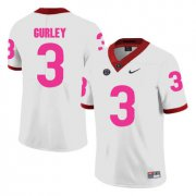 Wholesale Cheap Georgia Bulldogs 3 Todd Gurley White Breast Cancer Awareness College Football Jersey