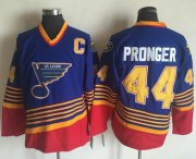 Wholesale Cheap Blues #44 Chris Pronger Light Blue/Red CCM Throwback Stitched NHL Jersey