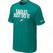 Wholesale Cheap Nike Philadelphia Eagles Just Do It Green T-Shirt