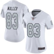 Wholesale Cheap Nike Raiders #83 Darren Waller White Women's Stitched NFL Limited Rush Jersey