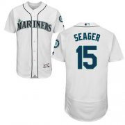 Wholesale Cheap Mariners #15 Kyle Seager White Flexbase Authentic Collection Stitched MLB Jersey