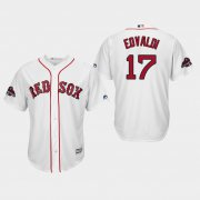 Wholesale Cheap Red Sox #17 Nathan Eovaldi White New Cool Base 2018 World Series Champions Stitched MLB Jersey