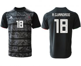 Wholesale Cheap Mexico #18 A.Guardado Black Soccer Country Jersey
