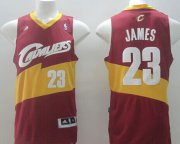 Wholesale Cheap Cleveland Cavaliers #23 LeBron James Revolution 30 Swingman 2014 Red Jersey