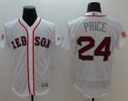 Wholesale Cheap Red Sox #24 David Price White Fashion Stars & Stripes Flexbase Authentic Stitched MLB Jersey