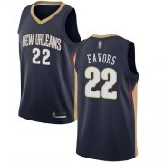 Wholesale Cheap Pelicans #22 Derrick Favors Navy Basketball Swingman Icon Edition Jersey