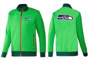 Wholesale Cheap NFL Seattle Seahawks Team Logo Jacket Green_1