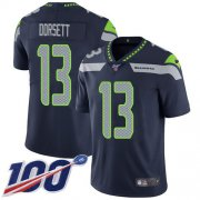 Wholesale Cheap Nike Seahawks #13 Phillip Dorsett Steel Blue Team Color Men's Stitched NFL 100th Season Vapor Untouchable Limited Jersey