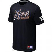 Wholesale Cheap Detroit Tigers Nike Short Sleeve Practice MLB T-Shirt Black