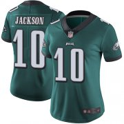 Wholesale Cheap Nike Eagles #10 DeSean Jackson Midnight Green Team Color Women's Stitched NFL Vapor Untouchable Limited Jersey