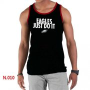 Wholesale Cheap Men's Nike NFL Philadelphia Eagles Sideline Legend Authentic Logo Tank Top Black_1