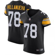Wholesale Cheap Nike Steelers #78 Alejandro Villanueva Black Alternate Men's Stitched NFL Vapor Untouchable Elite Jersey