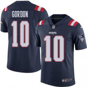Wholesale Cheap Nike Patriots #10 Josh Gordon Navy Blue Men's Stitched NFL Limited Rush Jersey