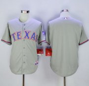 Wholesale Rangers Blank Grey 40th Anniversary Patch Cool Base Stitched Baseball Jersey