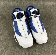 Wholesale Cheap Womens Air Jordan 6 Rings Shoes Blue/white-black