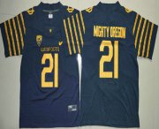 Wholesale Cheap Men's Oregon Ducks Spring Game #21 Mighty Oregon Weebfoot 100th Rose Bowl Game Navy Blue Elite Jersey