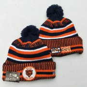 Wholesale Cheap Bears Fresh Logo Orange 100th Season Pom Knit Hat YD