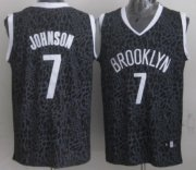 Wholesale Cheap Brooklyn Nets #7 Joe Johnson Black Leopard Print Fashion Jersey