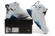 Wholesale Cheap WMNS Air Jordan 7 GS Shoes White/French blue-black