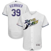 Wholesale Cheap Tampa Bay Rays #39 Kevin Kiermaier Majestic Turn Back The Clock Home Flex Base Authentic Collection Player Jersey White