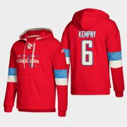 Wholesale Cheap Washington Capitals #6 Michal Kempny Red adidas Lace-Up Pullover Hoodie