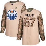 Wholesale Cheap Adidas Oilers #67 Benoit Pouliot Camo Authentic 2017 Veterans Day Stitched NHL Jersey
