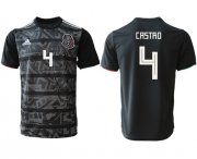 Wholesale Cheap Mexico #4 Castro Black Soccer Country Jersey