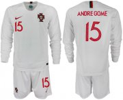 Wholesale Cheap Portugal #15 Andre Gome Away Long Sleeves Soccer Country Jersey