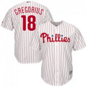 Wholesale Cheap Phillies #18 Didi Gregorius White(Red Strip) Cool Base Stitched Youth MLB Jersey