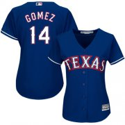 Wholesale Cheap Rangers #14 Carlos Gomez Blue Alternate Women's Stitched MLB Jersey