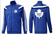 Wholesale Cheap NHL Toronto Maple Leafs Zip Jackets Blue-5