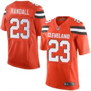 Wholesale Cheap Nike Browns #23 Damarious Randall Orange Alternate Men's Stitched NFL Elite Jersey
